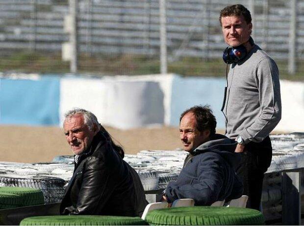 David Coulthard, Dietrich Mateschitz (Red Bull-Boss), Gerhard Berger, Jerez, Circuit de Jerez