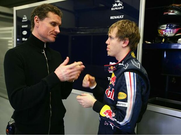 David Coulthard und Sebastian Vettel, Circuit de Jerez