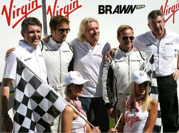 Ross Brawn (Teamchef), Nick Fry (Geschäftsführer), Rubens Barrichello, Jenson Button, Melbourne, Albert Park Melbourne