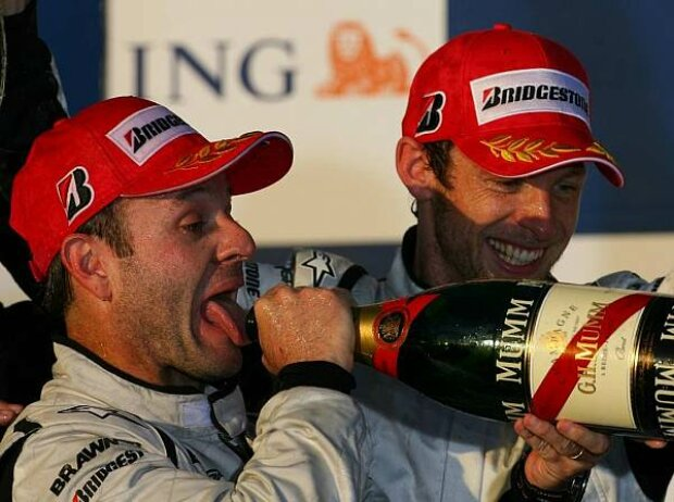 Rubens Barrichello und Jenson Button, Melbourne, Albert Park