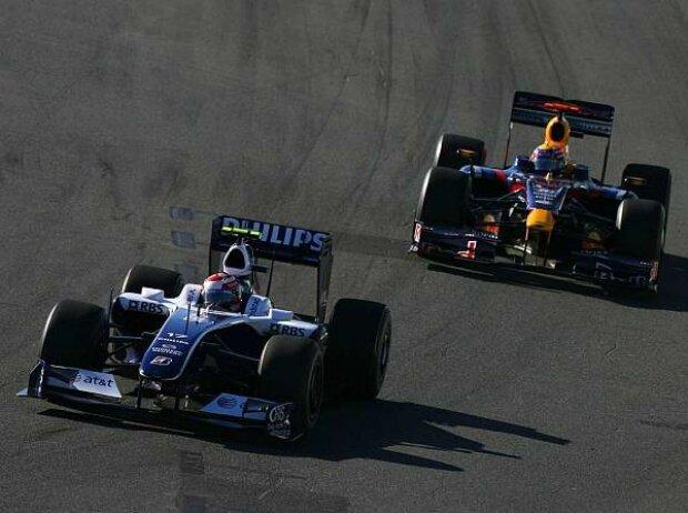 Kazuki Nakajima vor Mark Webber, Melbourne, Albert Park