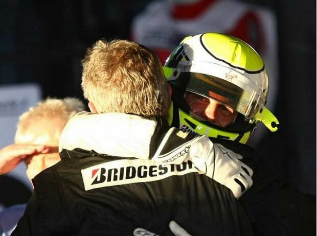 Jenson Button und Ross Brawn, Melbourne, Albert Park