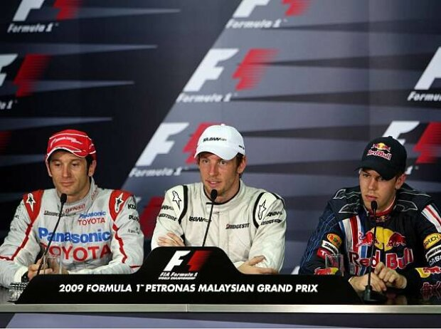 Jarno Trulli, Jenson Button, Sebastian Vettel