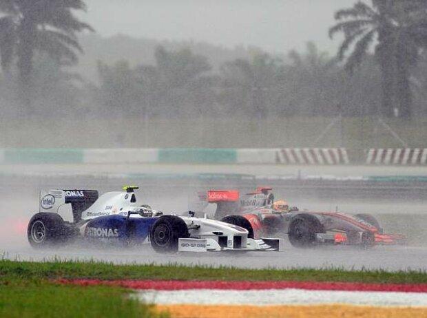 Lewis Hamilton, Nick Heidfeld