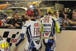 Jorge Lorenzo und Valentino Rossi (Yamaha)