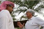 Bernie Ecclestone (Formel-1-Chef) mit Kronprinz Sheikh Salman Bin Hamad Al Khalifa