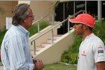 McLaren-Teilhaber Mansour Ojeh und Lewis Hamilton (McLaren-Mercedes)