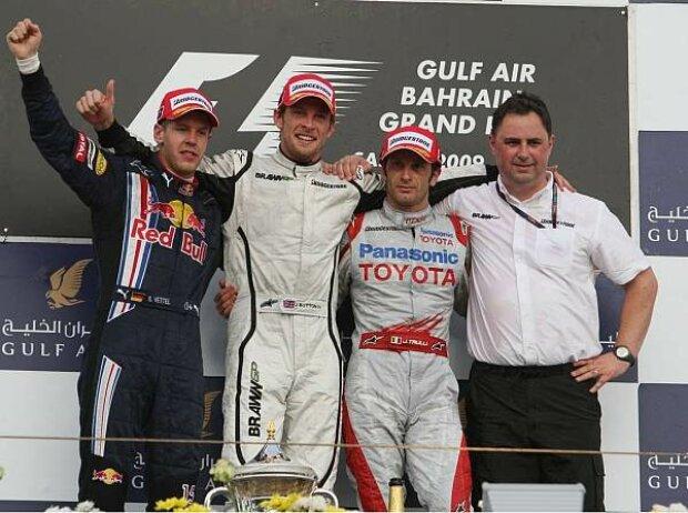 Podium in Bahrain 2009