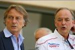 Luca di Montezemolo (Präsident) (Ferrari) und John Howett (Teampräsident) (Toyota)