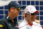 Sebastian Vettel (Red Bull) und Timo Glock (Toyota)