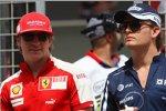 Kimi Räikkönen (Ferrari) und Nico Rosberg (Williams)