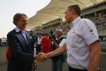 Luca di Montezemolo (Präsident) (Ferrari) und Martin Whitmarsh (Teamchef) (McLaren-Mercedes)