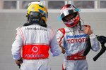 Lewis Hamilton (McLaren-Mercedes) und Jarno Trulli (Toyota)