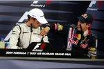 Jenson Button (Brawn) und Sebastian Vettel (Red Bull)