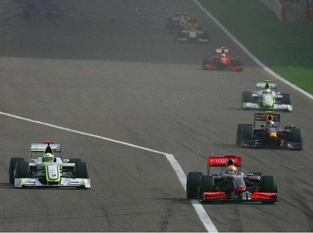 Jenson Button und Lewis Hamilton
