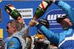 Nicola Larini, Robert Huff, Yvan Muller (SEAT) (Chevrolet)