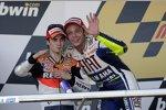 Valentino Rossi (Yamaha), Daniel Pedrosa (Honda)