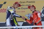 Valentino Rossi (Yamaha), Casey Stoner (Ducati)