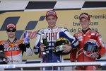 Daniel Pedrosa (Honda), Valentino Rossi (Yamaha), Casey Stoner (Ducati)