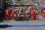 Felipe Massa (Ferrari) beim Boxenstopp