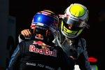 Mark Webber (Red Bull) und Jenson Button (Brawn)