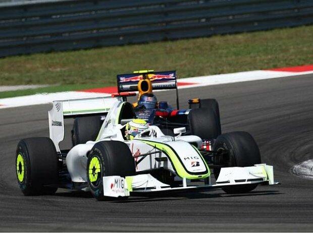 Jenson Button vor Sebastian Vettel