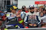 Valentino Rossi und Jorge Lorenzo (Yamaha)