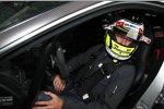 Jenson Button (Brawn) im Renntaxi