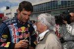 Mark Webber (Red Bull) und Bernie Ecclestone (Formel-1-Chef)
