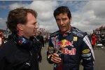 Mark Webber Christian Horner (Teamchef) (Red Bull)