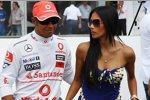 Lewis Hamilton (McLaren-Mercedes) mit Freundin Nicole Scherzinger