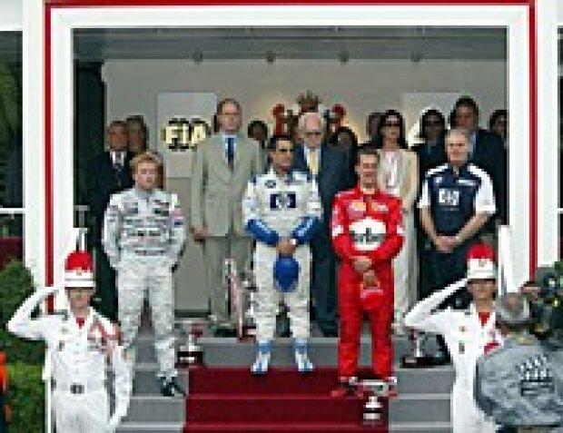 Podium in Monaco 2003
