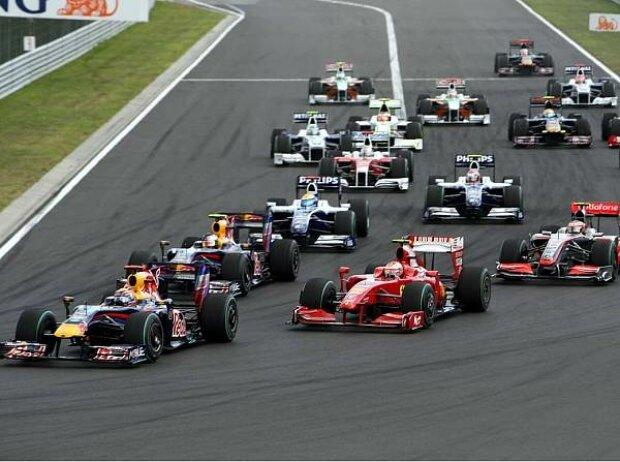 Kimi Räikkönen, Mark Webber, Sebastian Vettel