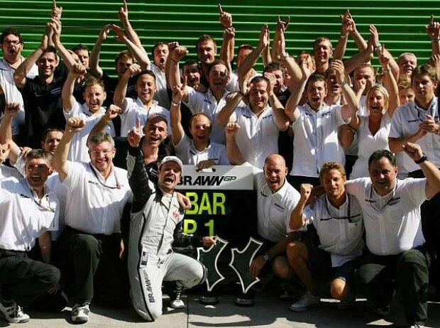 Rubens Barrichello und Ross Brawn (Teamchef)