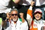 Vijay Mallya (Teameigentümer) und Giancarlo Fisichella (Force India)