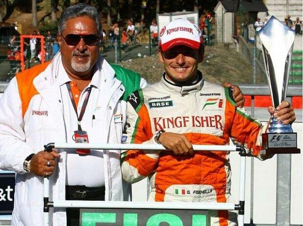 Vijay Mallya und Giancarlo Fisichella
