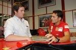 Renningenieur Rob Smedley und Giancarlo Fisichella (Ferrari)