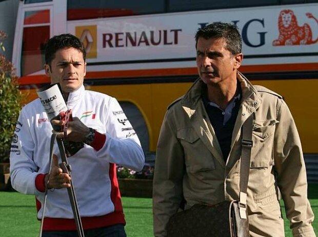 Giancarlo Fisichella und Enrico Zanarini