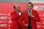 Luca di Montezemolo (Präsident) (Ferrari) und Santander-Chef Don Alfredo Saenz