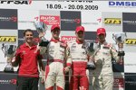 Podium mit Sieger Jules Bianchi