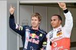 Sebastian Vettel (Red Bull) und Lewis Hamilton (McLaren-Mercedes)