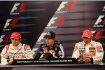 Jarno Trulli (Toyota), Sebastian Vettel (Red Bull) und Lewis Hamilton (McLaren-Mercedes)