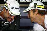 Rubens Barrichello und Jenson Button (Brawn)