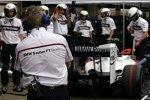 Box des BMW Sauber F1 Teams