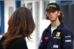 Romain Grosjean (Renault) mit seiner Freundin Marion Jolles