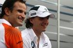 Robert Kubica (BMW Sauber F1 Team) und Vitantonio Liuzzi(Force India)