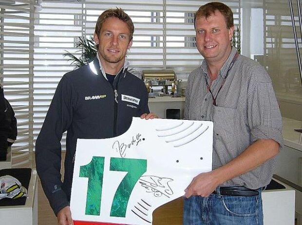 Jenson Button mit Norbert Ockenga