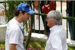 Bruno Senna und Bernie Ecclestone (Formel-1-Chef)