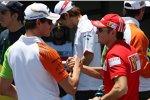 Ex-Teamkollegen: Adrian Sutil (Force India) und Giancarlo Fisichella (Ferrari)
