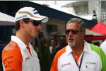 Adrian Sutil und Vijay Mallya (Teameigentümer) (Force India)